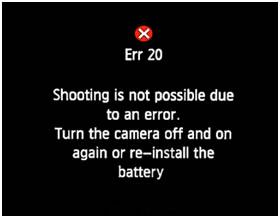 Canon Error 151 - Error 2