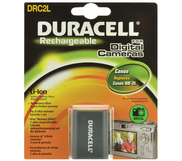 Duracell DRC2L Lithium-ion Rechargeable Camera Battery for Canon EOS 350D, 400D, PowerShot G7, G9